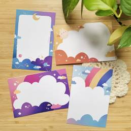 pretty skies printable penpal pages @ cissy's art café